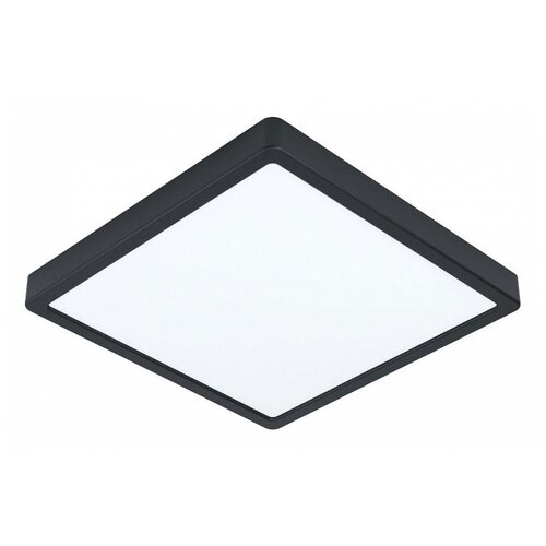 Фото - Накладной светильник Eglo ПРОМО, 1х20W, черный, размеры (мм)-285x285x28, 3000К, плафон - белый накладной светильник novotech 3х12w белый размеры мм 105x38x236 3000к плафон белый черный