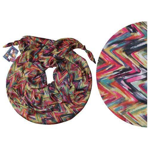 Двойной шарф-долька Оланж Ассорти серия Апрель с узелками dolka-шелк-z-181