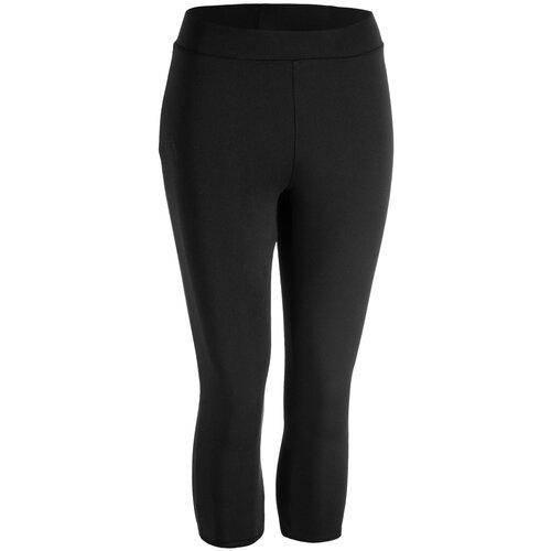 Бриджи для фитнеса черные, размер: M / W30 L31, цвет: Черный DOMYOS Х Декатлон