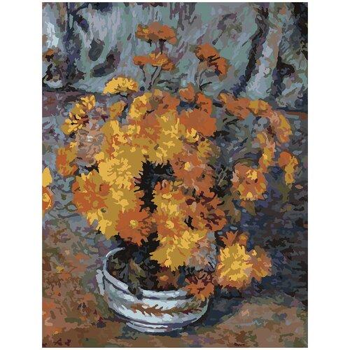ваза с крышкой d16 х 28 см Картина по номерам Арман Гийомен - Ваза С Хризантемами, 60 х 80 см