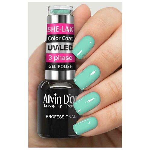 Купить Гель-лак для ногтей Alvin D'or She-Lak Color Coat, 8 мл, 3513