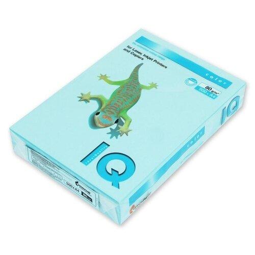 Бумага цветная А4 500л IQ COLOR 80г/м2 голубой MB30 1520944