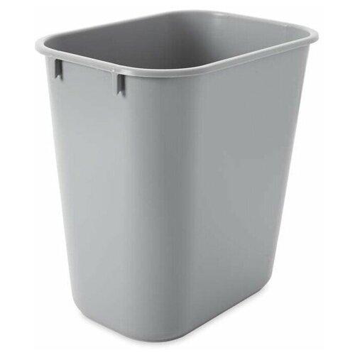Корзина для мусора прямоугольная офисная Soft Wastebaskets 12,9 л., Серый, Rubbermaid
