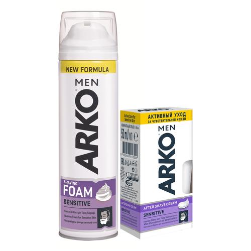 Набор Arko Men Для чувствительной кожи (пена для бритья + крем после бритья) без упаковки