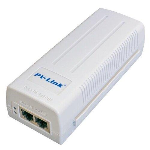Инжектор PoE с базовой скоростью передачи данных 1000 Мбит/с PV-Link PV-PОЕ01GB (ver.230)