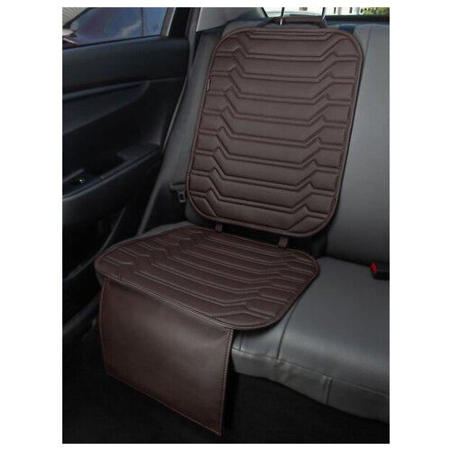 Чехлы (накидки) под автокресло. Защита сидений авто. Цвет: шоколадный. 1 шт. КОЛИБР