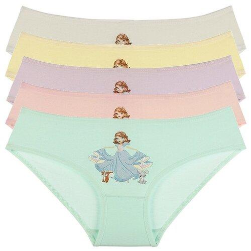Купить Трусы для девочек 4171MP, Цвет: Микс, Размер: 2/3, 5шт. в упаковке, Donella, Белье и купальники