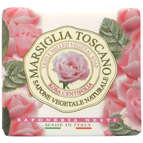 Мыло кусковое Nesti Dante Marsiglia Toscano Rosa Centifolia, 200 г недорого