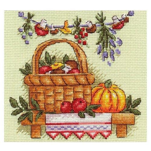 Купить PANNA Набор для вышивания Грибное лукошко 17 x 17 см (N-0873), Наборы для вышивания