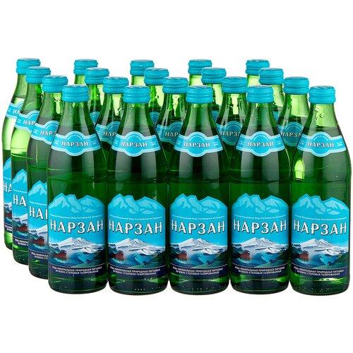 Вода минеральная Холдинг Аква Нарзан газированная, стекло, 20 шт. по 0.45 л