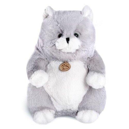 Мягкая игрушка Lapkin Толстый кот серый 16 см