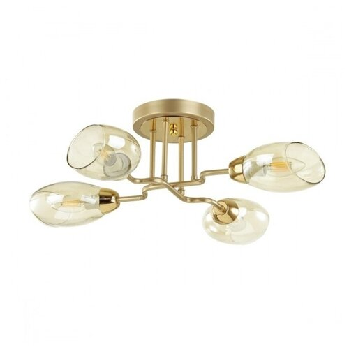 Люстра Lumion Lacie 4536/4C, E14, 160 Вт, кол-во ламп: 4 шт., цвет арматуры: золотой люстра lumion nolan 4402 4c e14 160 вт