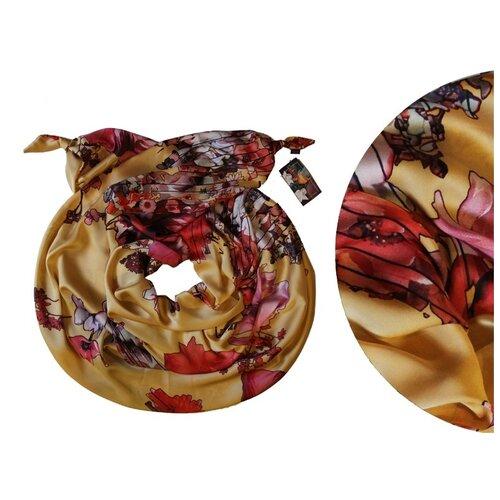 Двойной шарф-долька Оланж Ассорти серия Апрель с узелками dolka-шелк-z-127