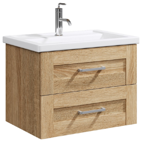 Тумба для ванной комнаты с раковиной Aqwella Foster (FOS01072) + Фостер 700 (4620008197746), ШхГхВ: 66.4х45х53.6 см, цвет: дуб сонома недорого