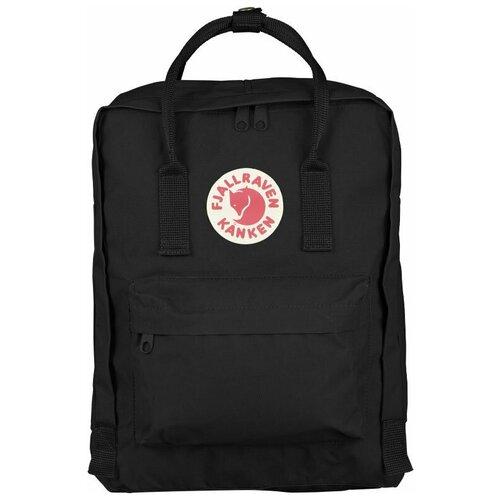 Фото - Городской рюкзак Fjallraven Kånken 16, black рюкзак fjallraven kånken no 2 laptop 15 black edition 18 черный