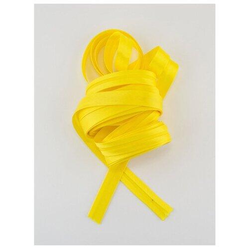 Купить Косая бейка, 14-15 мм, 10 м., GK-15P, Гамма, №011 яр.желтый, Gamma, Технические ленты и тесьма