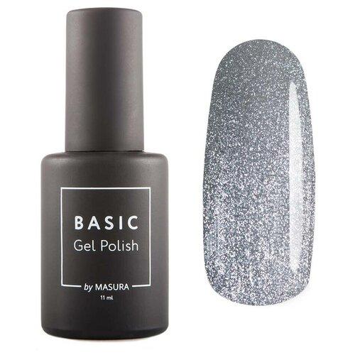 Гель-лак для ногтей Masura Basic, 11 мл, Вулканическое Серебро гель лак для ногтей masura basic 11 мл саргассово море