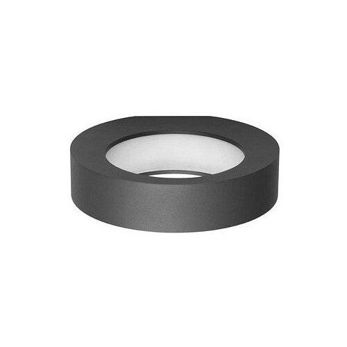 Фото - Накладной светильник Novotech, 1х10W, серый, размеры (мм)-228x55x235, 3000К, плафон - белый накладной светильник novotech 3х12w белый размеры мм 105x38x236 3000к плафон белый черный
