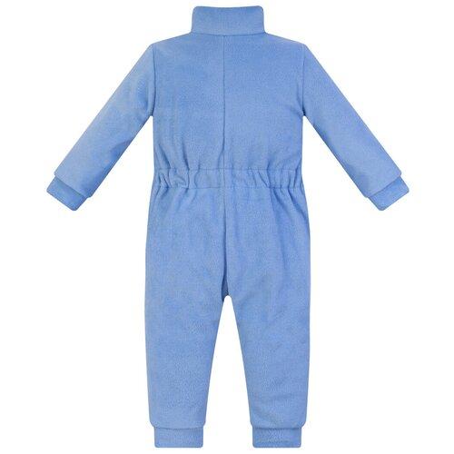 Комбинезон детский, флисовый,286г(ш), Утенок, рост 122 см голубой
