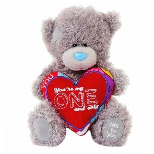 Мягкая игрушка Me to you Мишка Тедди с сердцем You're my one and only 18 см