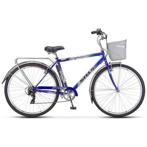велосипед stels navigator 300 gent 28 z010 20 синий Городской велосипед STELS Navigator 350 Gent 28 Z010 (2018) синий 20 (требует финальной сборки)