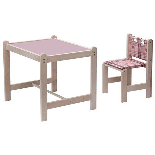 Комплект Гном стол + стул Малыш-2 62x52 см сиреневый/симпатия