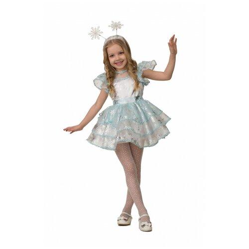 Купить Детский костюм 'Снежинка Снежана', размер 104 см., Батик, Карнавальные костюмы