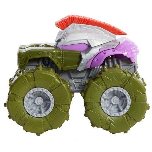 Купить Монстр-трак Hot Wheels Monster Trucks Gladiator Hulk 1:43 11.5 см зеленый/серый, Машинки и техника