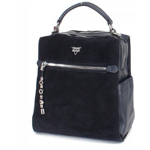 Женский рюкзак экокожа(искусственная кожа) + натуральная замша Velina Fabbiano 532037