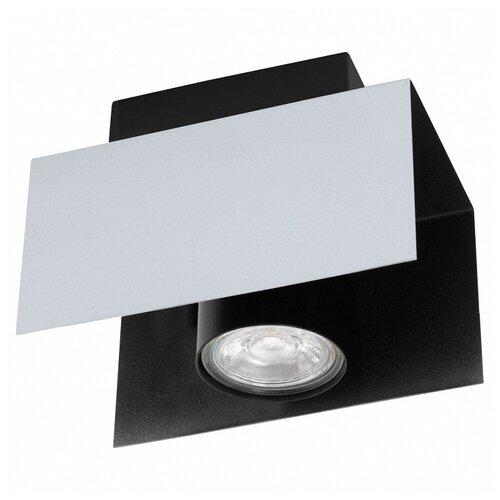 Фото - Накладной светильник Eglo ПРОМО, 1х5W, черно-белый, размеры (мм)-120x85x115, 3000К, плафон - черный накладной светильник novotech 3х12w белый размеры мм 105x38x236 3000к плафон белый черный