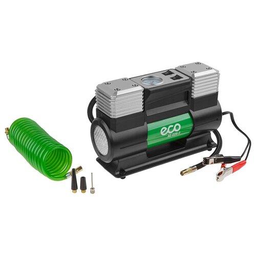 Компрессор автомобильный ECO AE-028-2 (12 В, 280 Вт, 70 л/мин, 2 цилиндра, 10 бар (манометр 7 бар), фонарь, сумка) (AE-028-2)