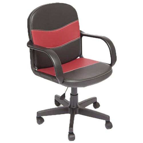 Фото - Компьютерное кресло TetChair Багги офисное, обивка: искусственная кожа, цвет: черный/бордовый компьютерное кресло tetchair багги обивка текстиль искусственная кожа цвет черный серый
