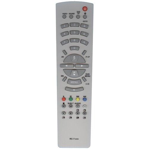 Фото - Пульт Huayu RC-7+DVD для tv+dvd Rolsen пульт huayu rc a06 rl 32b05f rb 32k101u для tv dvd rolsen