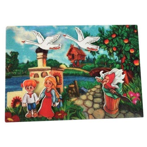 Купить Развивающая игра из фетрана липучках по сказке Гуси-лебеди , Веселые липучки, Развивающие коврики