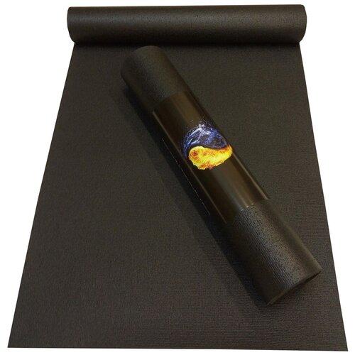 Коврик RamaYoga Yin-Yang Studio, 173х60х0.45 см черный однотонный