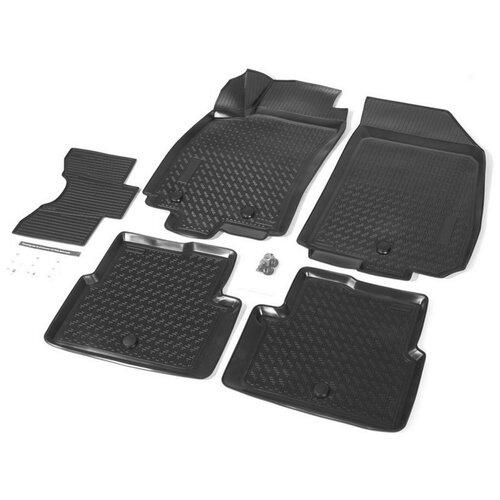 накладки порогов rival для ravon r4 2016 4 шт Комплект ковриков салона RIVAL 11002001 для Chevrolet Cobalt, Ravon R4 5 шт. черный