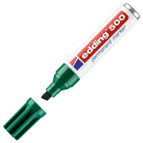 Фото - Маркер перманентный EDDING 500/4 зеленый 2-7мм скошенный наконечник маркер перманентный edding зеленый 3 4 мм круглый наконечник