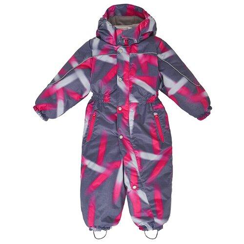 Купить AAW203T1OV38 Комбинезон детский Тейлор 1-1, 5 г размер 86-52 цвет серый_розовый, Oldos, Теплые комбинезоны