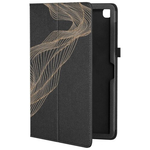 Кожаный чехол подставка для Samsung Galaxy Tab A7 10.4 SM-T500 GSMIN Series CL (Черный) (Дизайн 315)