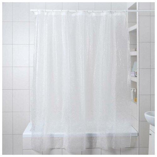 Штора для ванной Доляна Пелена 180x180 пелена