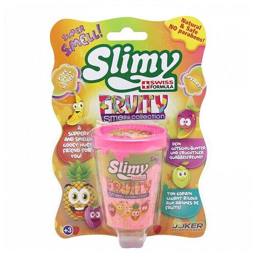 Лизун Slimy Fruity smelly collection с запахом клубники розовый
