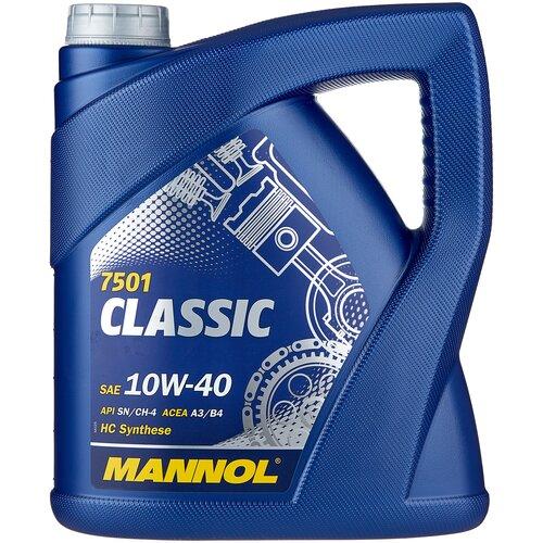 Фото - Полусинтетическое моторное масло Mannol Classic 10W-40 4 л минеральное моторное масло mannol universal 15w 40 4 л