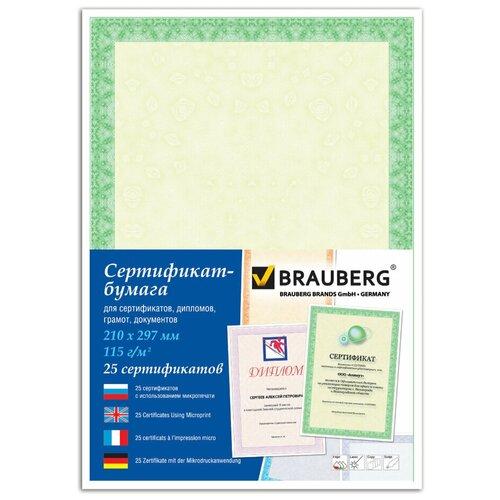 Фото - Бумага BRAUBERG А4 122623 115 г/м2 25 лист., зеленый интенсив бумага brauberg а4 362879 160г м² 50 лист