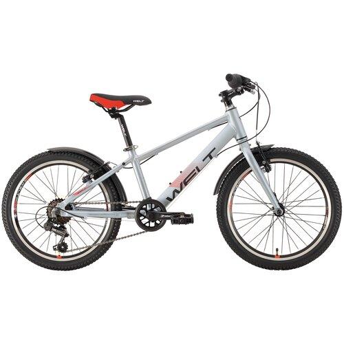 Подростковый горный (MTB) велосипед Welt Peak 20 R (2021) metal grey (требует финальной сборки) горный mtb велосипед kellys desire 90 2019 grey green m требует финальной сборки