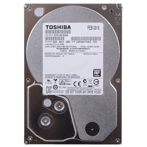 Жесткий диск Toshiba 2 TB DT01ACA200 жесткий диск toshiba 2 tb hdwd120ezsta