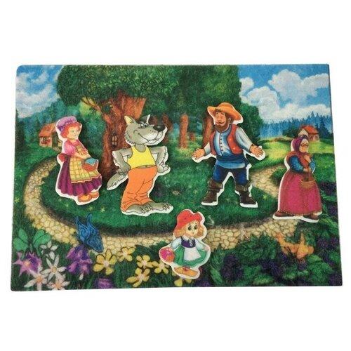 Купить Развивающая игра из фетра на липучках по сказке Красная шапочка , Веселые липучки, Развивающие коврики