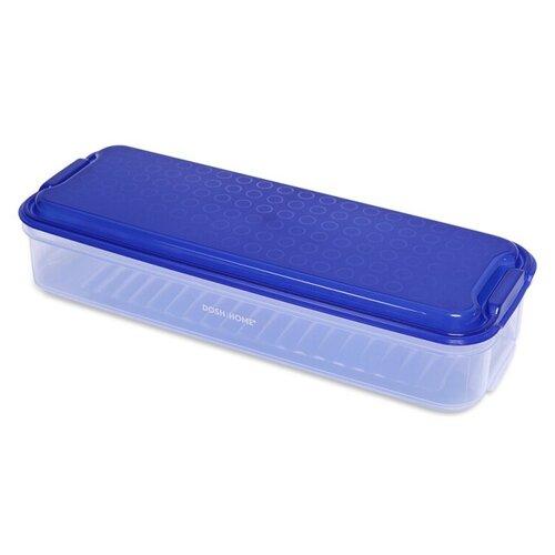 Фото - DOSH | HOME Контейнер Aliot 1.5 л, 12.5x31 см, синий контейнеры для еды dosh home контейнер прямоугольный aliot 1 5 л