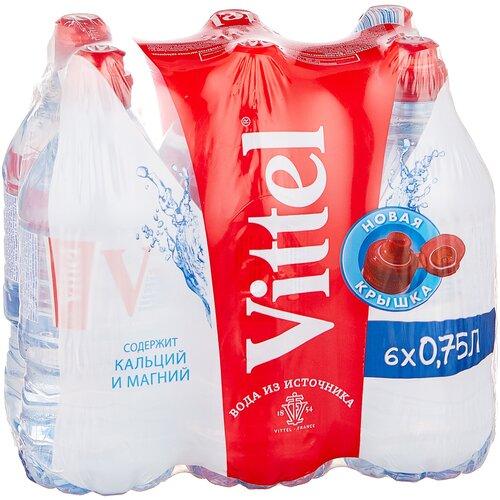 Минеральная вода Vittel негазированная, ПЭТ спорт, 6 шт. по 0.75 л