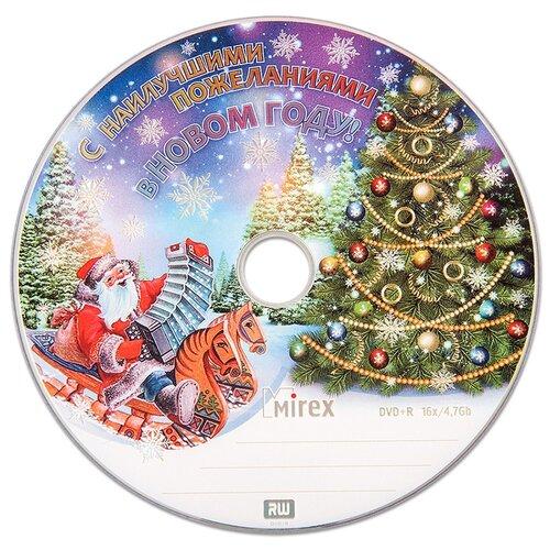 Диск Mirex DVD+R 47Gb 16x «Новогодний» bulk упаковка 50 штук