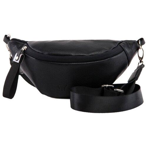 сумка на пояс женская dimanche регби цвет черный 231 1f Сумка женская поясная S.Lavia, цвет черный